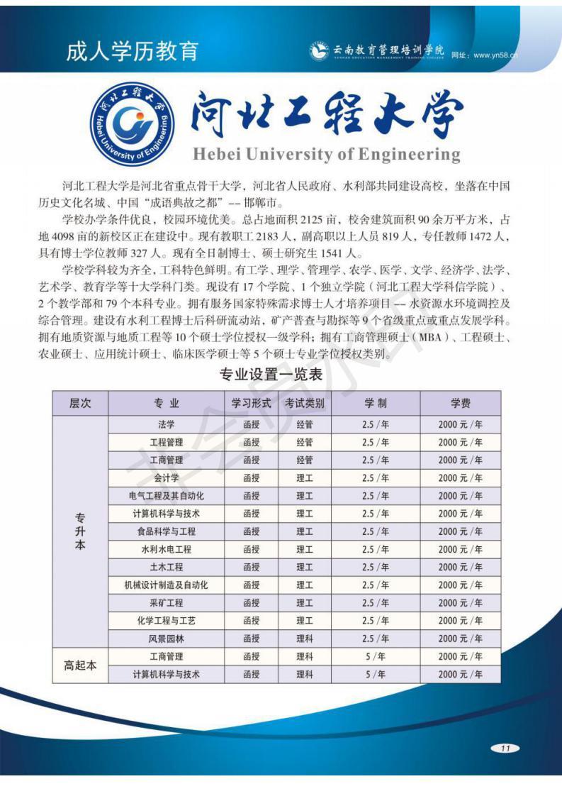 2018年成人高考:河北工程大学录取人员名单
