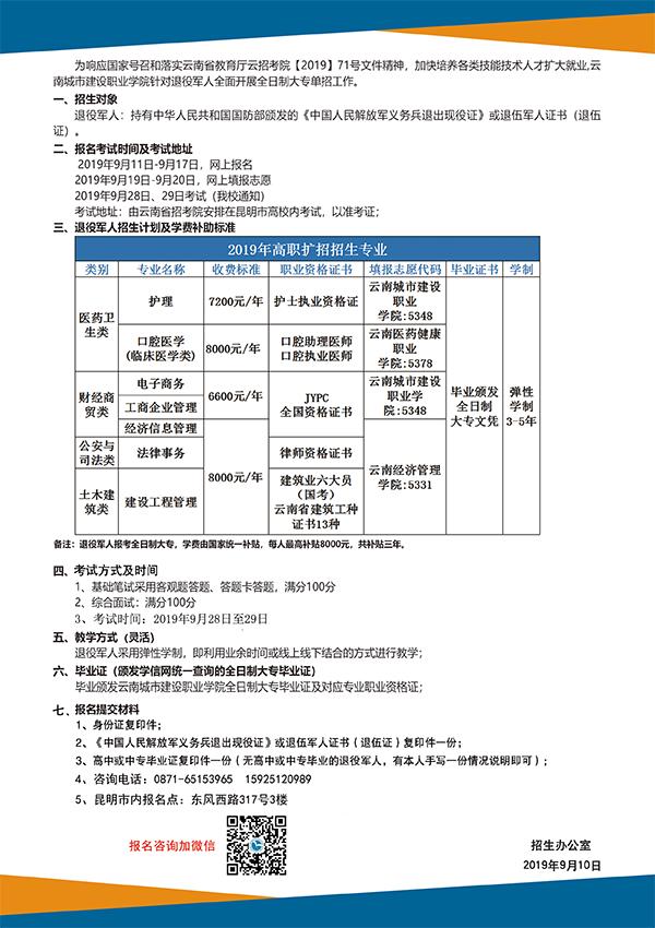 全日制高职扩招招生简章,退役军人免费!!!